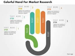 Powerpoint Template Research Business Diagram Colorful Hand For Market Research