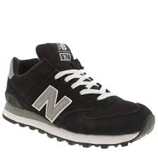 new balance 574 black. womens black/white new balance 574 suede and mesh shoes black