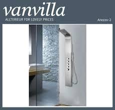 Details Zu Vanvilla Duschpaneel Arezzo 2 Edelstahl Thermostat Schwall U Regenbrause