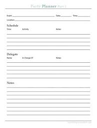 Free Party Planner Printable Nourishing Minimalism