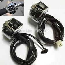pair chrome motorcycle 1 handlebar control switches cover wiring pair chrome motorcycle 1 handlebar control switches cover wiring harness fit for harley shipping