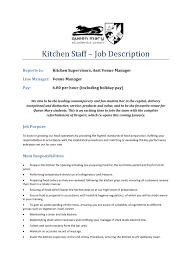 cover letter description kitchen assistant job description resume luxury kitchen staff cover