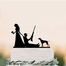 Funny Wedding Cake Topper The Hunt Is Over Cake Toppers With Dog