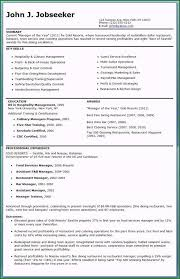 Resume Template For Restaurant Manager Restaurant Resume Template Download 41 Creative Ideas For