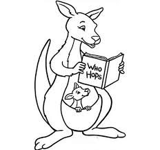 Small Picture Baby Kangaroo Coloring Pages Coloring Coloring Pages