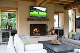 outdoor fireplaces with tv beautiful outdoor fireplace tv design ideas