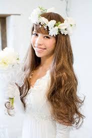 画像 人気1実例花冠の花嫁髪型画像まとめウェディングドレス編
