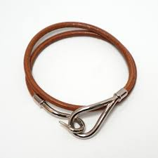 hermes jumbo hook double wrap bracelet bangle leather