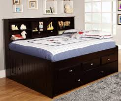 espresso full size bookcase captain's day bed with trundle  day