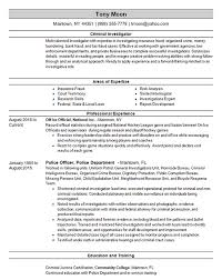 Acting resumes are different from normal resumes. Criminal Investigator Resume Example