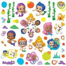 >amazon roommates rmk2404scs bubble guppies peel and stick wall  amazon roommates rmk2404scs bubble guppies peel and stick wall decals 1 pack home improvement