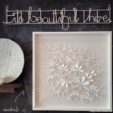 view in gallery white 3d flower wall art