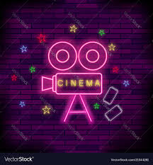 Light Neon Pink Cinema Light Neon Sign Pink Signboard Bright