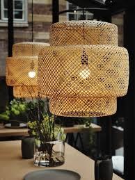 ikea sinnerlig ceiling lamp shade bamboo
