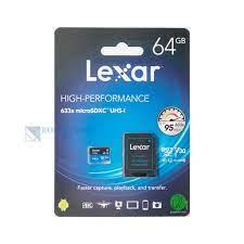 Thẻ nhớ Micro SD Lexar 64GB UHS-I 633x U3 100Mbs video 4k – Chính Hãng BH  36 Tháng