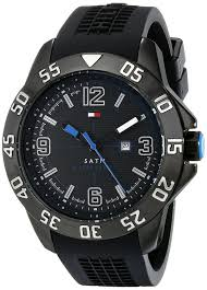 amazon com tommy hilfiger men s 1790983 cool sport black ion amazon com tommy hilfiger men s 1790983 cool sport black ion plated case black silicone strap watch tommy hilfiger watches