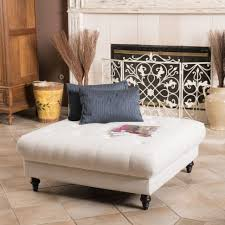 Tufted Living Room Set Living Room Furniture Square White Upholstered Tufted Ottoman