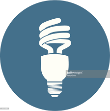 vector square blue icon lighting bulb. blue and white energy efficient light bulb icon vector art square lighting c