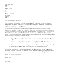 Letter Of Interest For Administrative Assistant Best Executive