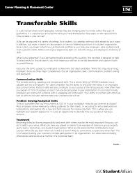 Best Photos Of Transfer Skills Resume Samples Transferable Listing