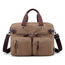 brand men canvas bag leather briefcase travel suitcase messenger shoulder tote back handbag large casual business laptop pocket mens briefcases las
