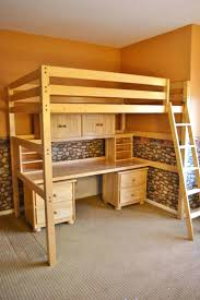 full image for bunk bed desk trundle combo childrens student full sized loft bed and desk