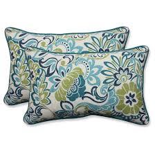 Pillow Perfect Zoe Mallard Outdoor Throw Pillow Set Blue Tar