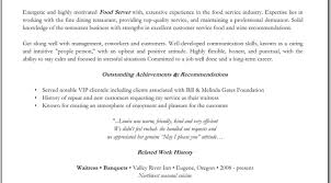 Sample Bartender Resume Resume Sample Job Description Image