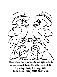 60df1f22651953f20cff0510c761193a 2 blackbirds poems & rhymes pinterest coloring pages on nursery rhyme printable books