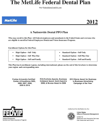 The Metlife Federal Dental Plan Pdf