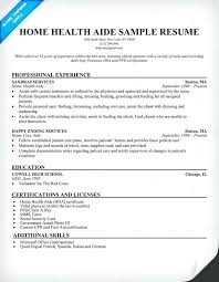 Home Care Aide Resume Sample Examples To Stand Wondrous Home .