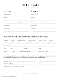 General Bill Of Sale Form Free General Bill Of Sale Template