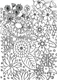 Free Printable Flower Garden Coloring Pages Coloring Pages Garden