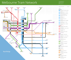 Click on an attraction to view it on map. Melbourne Tram Map Maps By Philip Mallis