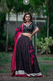 Jyotika Patel Designs Black Chaniya Choli With Patora Print Jyotikapatels