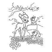 Kleurplaat Bambi 206