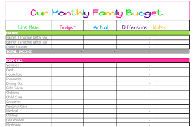 Budget Worksheets Excel Free Monthly Budget Template Cute Design In Excel