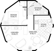 344 best z cob house floor plans images on pinterest house floor House Floor Plans Under 1000 Square Feet deltec roundhouse kits 517 sq ft home floor plans under 1000 square feet