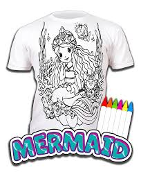 mermaid colour in pictures. Brilliant Pictures Kids Children Childrens Colour In Tshirt Art2colour Art 2 Inside Mermaid Colour In Pictures