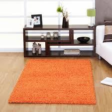 Orange Rugs For Living Room Ultima Shaggy Rug In Orange Free Uk Delivery The Rug Seller