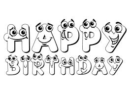Kleurennu Happy Birthday Kleurplaten