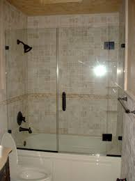 pretty looking half glass shower door for bathtub 34