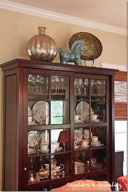 top of China cabinet decor