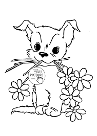 Small Picture Cute Puppy Coloring Pages To Print Coloring Coloring Pages