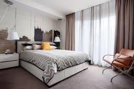 Melbourne Teal Velvet Curtains With Contemporary Decorative Pillows Bedroom  And Feature Wall Modern Bed Side Lamps