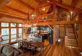 Log Cabin Living Room Concept Custom Design