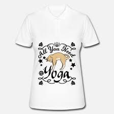 Katze Yoga Lustige Sprüche Englisch Frauen Poloshirt Spreadshirt