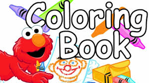 Small Picture COLORING BOOK Lets Color with Elmo Sesame Street Learning Games