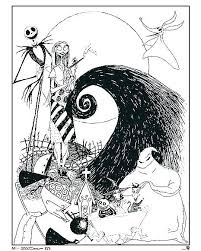 Nightmare Before Christmas Coloring Book A3143 Sally Nightmare