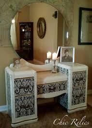 vintage art deco furniture. Upcycled Vintage Art Deco Waterfall Vanity. $460.00, Via Etsy. Furniture